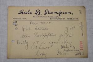 Thompson 1914 Rx