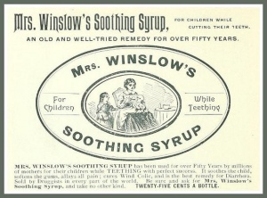 Winslows Syrup label